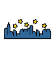 buildings cityscape silhouette icon vector image vector image
