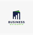business finance guidance book logo icon vector image