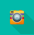 camera flat icon for web vector image vector image