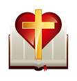 catholic symbol vector image vector image
