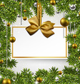 Christmas background with invitation card vector image vector image