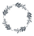 christmas scandinavian hand drawn floral vector image