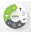 circle arrows for infographic Template for diagram vector image