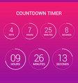 circle countdown clock counter timer on gradient vector image vector image