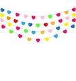 Color heart flags banner vector image