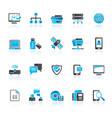 connection communication and network icons vector image