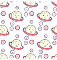 cosmic seamless pattern cute doodle planets vector image