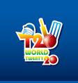 cricket twenty twenty world cup poster design vector image vector image