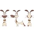 Cute Hunting Dog Cartoon vector image vector image