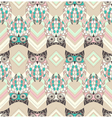 Cute owl seamless pattern with native elements vector image
