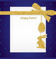 easter background with gold ribbon and seamless vector image vector image