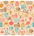 Education seamless wallpaper vector image vector image
