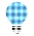 electric bulb halftone icon vector image