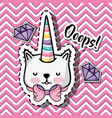 fashion cute patch with embroidery design vector image