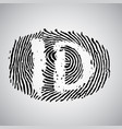 fingerprint with id vector image vector image