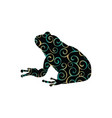 frog amphibian color silhouette animal vector image vector image