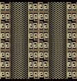 gold 3d greek key meander seamless pattern grid vector image vector image