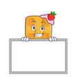 grinning waffle character cartoon design with vector image vector image