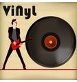 Guitar Vinyl vector image vector image