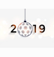 happy new year 2019 decorative background vector image vector image