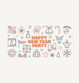 happy new year party horizontal vector image vector image