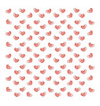 hearts wallpaper on white background vector image vector image