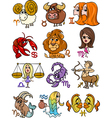 horoscope zodiac signs set vector image