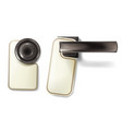 hotel door knob metal handle vector image