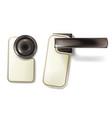 hotel door knob metal handle vector image vector image