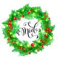 joyeux noel french merry christmas hand drawn vector image vector image