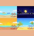 landscape beach set vector image