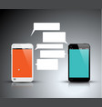 mobile communication technology - concept vector image vector image
