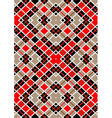 Motley red brown white squares vector image vector image