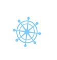 nautical steering wheel icon ship helm vector image