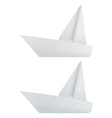 Origami ships vector image vector image