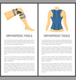 orthopedic tools collection vector image vector image