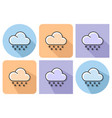 outlined icon of snowfall with parallel and not vector image vector image