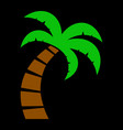 palm tree icon vector image vector image