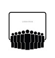people group icon with banner vector image vector image