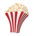 Popcorn cartoon icon vector image