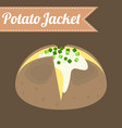 potato jacket vector image vector image