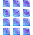 purple financial icons and buttons vector image vector image