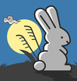 Rabbit under the moonlight vector image vector image