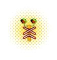 Rail crossing signal icon comics style vector image vector image