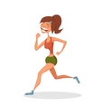 Running smiling girl Sport concept Hand-drawn vector image