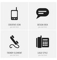 set of 4 editable device icons includes symbols vector image vector image