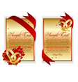 set of banner with red hearts vector image vector image