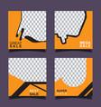 set sale banner template design vector image vector image