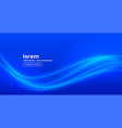 shiny blue background with glowing wave vector image vector image