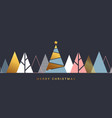 simple holiday christmas card vector image vector image
